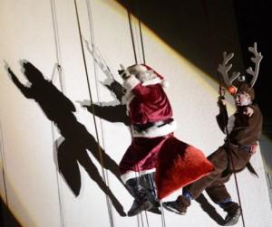 Rappeling Santa