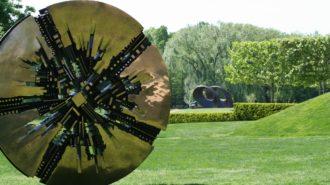 Grande Disco by Arnaldo Comodoro at the PepsiCo Sculpture Gardens