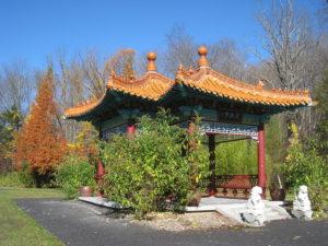 Lasdon_Park_and_Arboretum,_chinese pavilion  Bucket List: Glass House Conservatory at Lasdon Park & Arboretum