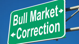 Bull Market or Correction Highway Sign
